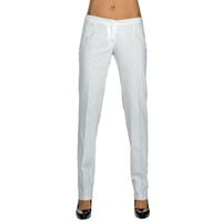 Pantalon Slim Femme Blanc 100% Coton