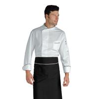 Veste Chef Cuisinier Bilbao Blanc Noir Microfibres