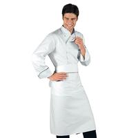 Veste Chef Cuisinier Bilbao Blanc Noir 100% Coton