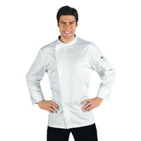 Veste Chef Cuisinier Bilbao Satin Blanc 100% Coton