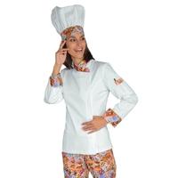 Veste Chef Femme Snaps Blanc delicious 100% Coton