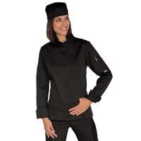 Veste Chef Femme Snaps Noir Polycoton