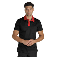 Polo Miami Unisexe Stretch Noir Rouge