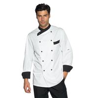 Veste Cuisine Giza blanc et noir traitement anti taches