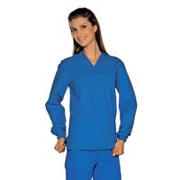 Casaque Médicale Manches Longues lunga Unisexe Bleu 100% Coton