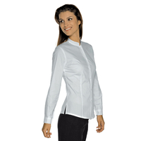 Chemise Stretch Col Mao Blanche