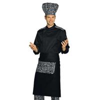 Veste Chef Cuisinier Malaga Noir san francisco 100% Coton