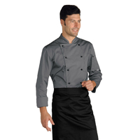 Veste Chef Cuisinier Gris