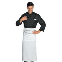 Veste Chef Cuisinier Boutons à Pression Noir
