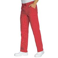 Pantalon Cuisinier Carreaux Rouge Blanc