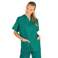 Casaque Médicale Col en V 100% Coton Unisexe Vert