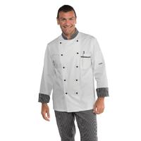 Veste Chef Cuisinier Blanc Rayé Noir