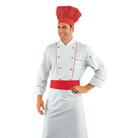 Veste Chef Cuisinier Blanc et Rouge