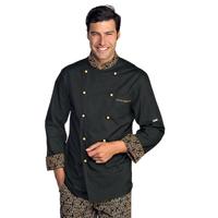 Veste Chef Cuisinier Extralight Noir Biscuit