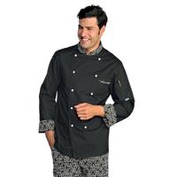 Veste Chef Cuisinier Extralight Noir Blanc