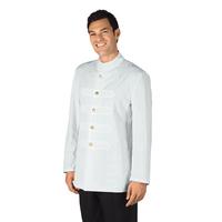 Veste Coreana avec Boutons Brodés Blanc