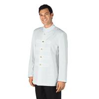 Veste Coreana Homme avec Boutons Brodés Blanc 100% Polyester
