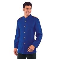Veste Major d' Homme Bleu Cyan Epaulettes Tressées