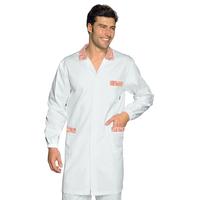 Blouse Médicale Homme Toronto Blanc Rayé Rouge 100% Coton