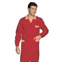 Blouse Médicale Homme Toronto Rouge Rayé Rouge 100% Coton