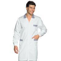 Blouse Médicale Homme Toronto Blanc Rayé Bleu 100% Coton