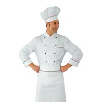 Veste Chef Cuisinier Prestige Blanc Liseré tricolore 100% Coton