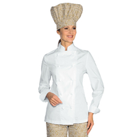 Veste de Cuisine Femme Ultra Légère Blanc