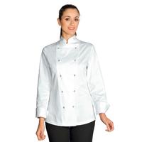 Veste de Cuisine Femme Esmeralda Blanc 100% Coton