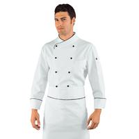 Veste Chef Cuisinier Pechino Blanc Noir