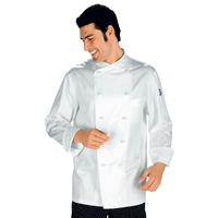 Veste Chef Cuisinier Monaco Blanc 100% Coton