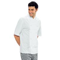 Veste Chef Cuisinier blanche manche courtes Enrica 100% Coton
