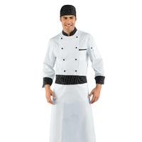 Veste Chef Cuisinier vienna Blanc et Noir 100% Coton