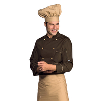 Veste Chef Cuisinier Manches Longues Extralight Biscuit Cacao