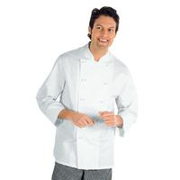 Veste Chef Cuisinier Livorno Blanc 100% Coton
