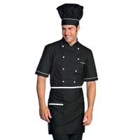 Veste Chef Cuisinier Alicante Noir Blanc