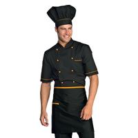 Veste Chef Cuisinier Alicante Noir Abricot
