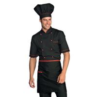 Veste Chef Cuisinier Alicante Noir Rouge