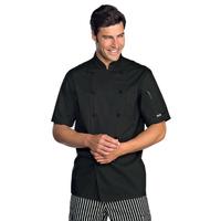 Veste Chef Cuisinier Extralight Manches Courtes Noir