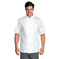 Veste Chef Cuisinier extralight blanche manches courtes