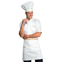 Veste Chef Cuisinier Alicante Blanc Abricot 100% Coton