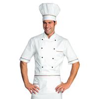 Veste Chef Cuisinier Alicante Blanc tricolore 100% Coton