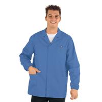 Veste Médicale Homme Manches Longues Sport Bleu