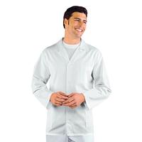 Veste Médicale Homme Manches Longues Sport Blanc 100% Coton