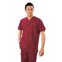 Casaque Médicale Col en V Unisexe Rouge