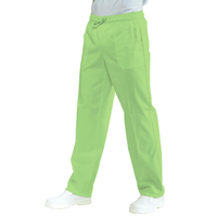 Pantalon Médical Mixte Taille Elastique Vert Pomme