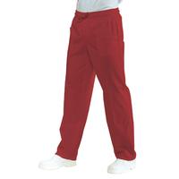 Pantalon Médical Mixte Taille Elastique Rouge