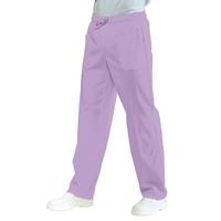 Pantalon médical Mixte à Taille Elastique  Lilas 100% Coton