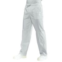 Pantalon Médical Mixte à Taille Elastique  Blanc 100% Coton satiné