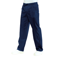 Pantalon médical Mixte Taille Élastique Bleu marine 100% Coton Bleu