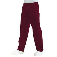 Pantalon Médical Mixte Taille Elastique  Bordeaux